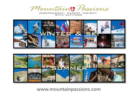 Image of MountainPassions.com welcome page.