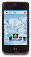 Meribel iPhone app piste map
