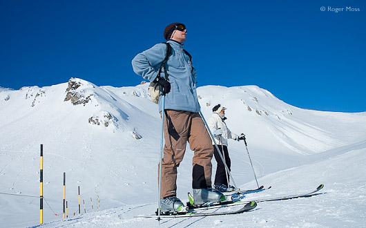 Skiers at Serre Chevalier
