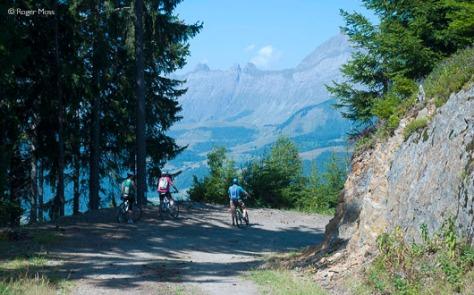 Mountain-biking, Les Saisies,  Val d'Arly